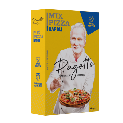 Mix Pizza Napoli fara Gluten, Pagotto, 450g